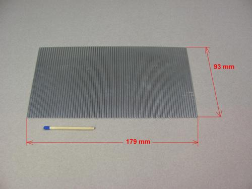 Wellblech 2,3mm - 93 x 179 Aluminium
